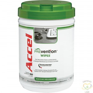 Accel® PREVention™ TB Ready To Use Wipes, 160 Wipes/Tub - 1