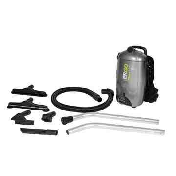 ATRIX  Ergo Pro Backpack Vacuum Tank Capacity: 2 US Gal.(7.5 Litres) Peak HP: 2 Air Flow: 106 CFM - 1