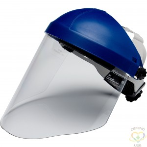 """3M  H8A Headgear with WP96 Faceshield Height: 9"""" Width: 14-1/2"""" Thickness: 0.08"""" Material: Polycarbonate - 1"""