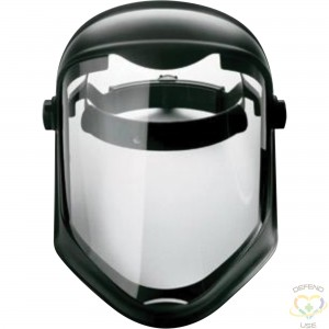 """HONEYWELL  Uvex® Bionic™ Shield Height: 8-1/2"""" Width: 16-1/2"""" Thickness: 0.06"""" Material: Polycarbonate - 1"""