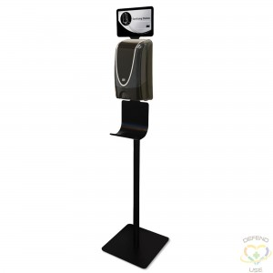 DEB  Hand Sanitizing Station Combo stand with 1.2L Touchfree Dispenser - 1