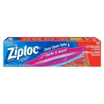 Ziploc Brand Bags - Storage Large - 12/19ct