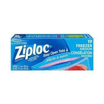 Ziploc Brand Bags - Freezer Medium - 12/19ct