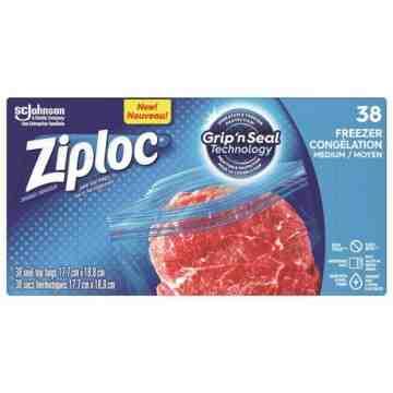 Ziploc Brand Bags - Freezer Medium Value Pack - 9/38ct