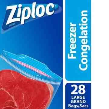 Ziploc Brand Bags - Freezer Large Value Pack- 9/28ct