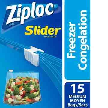 Ziploc Brand Bags - Slider Freezer - Medium - 12/15ct