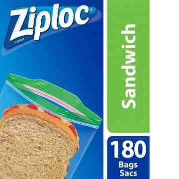 Ziploc Brand Bags - Sandwich Value Pack - 9/180ct