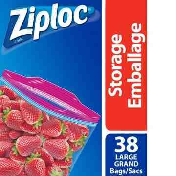 Ziploc Brand Bags - Storage Large Value Pack - 9/38ct