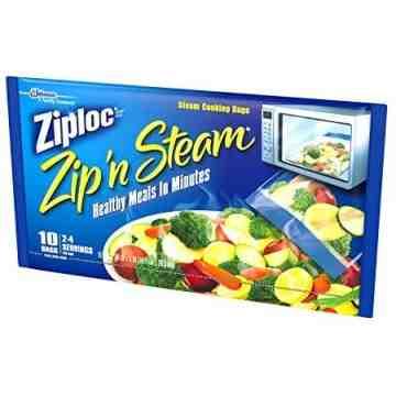 Ziploc Brand Bags - Zip'N Steam Steam Cooking Bags - 12/7ct