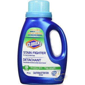 Clorox 2 Stain fighter, Pre-Wash and In-Wash, Free & Clear, Sensitive Skin, 975mL, 6x975ml - 1