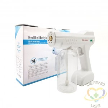 *Rechargeable Blue Light Nanotechnology Cold-Spray Gun Atomizing Fogger Disinfection Sprayer, Wireless Spray Machine - 3