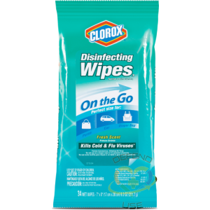 """PREORDER: CLOROX ON-THE-GO Meadow Fresh Sanitizing Towels, Pouch of 30, 7""""x8"""" Sheets, Case: 48 x 30ct - 5"""