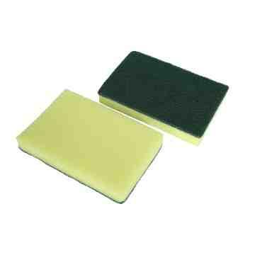 """Sponge HD Foam Scrub 6x4"""" Bulk - Green/Yellow , 50/CS"""