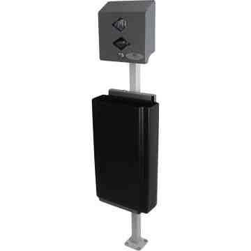 FROST Pet Waste Station, Bag Dispenser & Waste Receptacle, Colour: Grey - 1