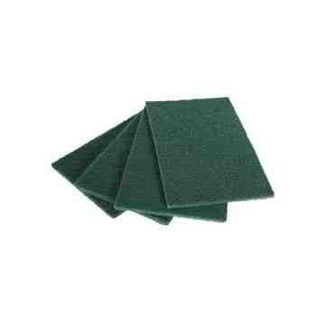 "HD Scouring Pad 6x9"" Bulk - Green, 100/CS"