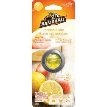 ARMOR ALL  Vent Clip Oil Air Freshener Type: Vent Clip Scent: Lemon Berry