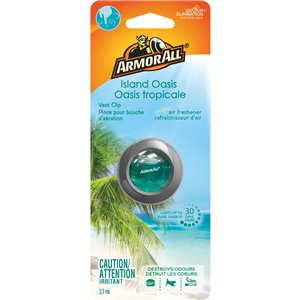 ARMOR ALL  Vent Clip Oil Air Freshener Type: Vent Clip Scent: Island Oasis
