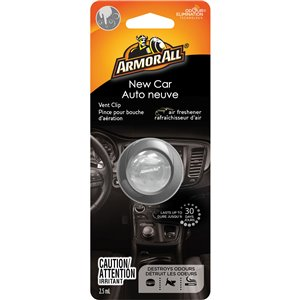 ARMOR ALL  Vent Clip Oil Air Freshener Type: Vent Clip Scent: New Car