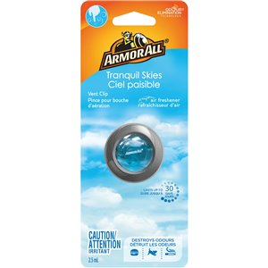 ARMOR ALL  Vent Clip Oil Air Freshener Type: Vent Clip Scent: Tranquil Skies