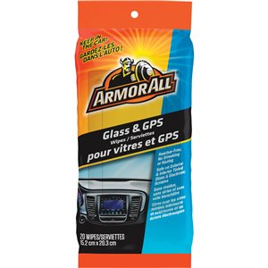 ARMOR ALL  Glass & GPS Cleaning Wipes No. of Wipes: 20