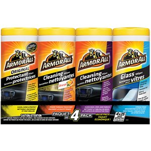 ARMOR ALL  Interior Vehicle Wipes Multipack Sold/Priced Per: Package Qty/Pkg.: 4 Containers