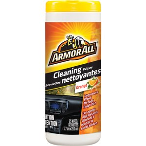 ARMOR ALL  Orange Cleaning Wipes No. of Wipes: 25