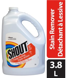 Shout - Triple-Acting Laundry Stain Remover - 4/3.8L