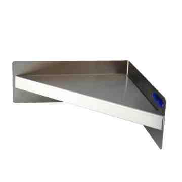 "Shelf - HD Corner Style 8x8"" - Stainless Steel"