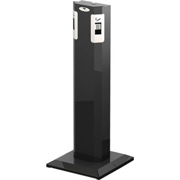 Smoking Receptacle - Outdoor Free Standing - Black/Stainless Steel