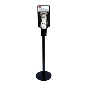 Rubbermaid Hand Sanitizing Station - Metal Stand, Black Dispenser not included