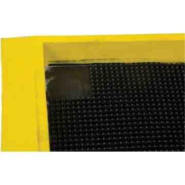 "Foot Sanitizing Mat  2.5'x 3.25' x 2.5"" Deep, Yellow/Black"