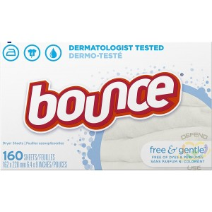Bounce, Sheet Fabric Softener Free & Gentle Unscented for Sensitive Skin - 6/120ct - 1