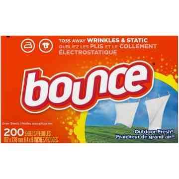 Bounce, Sheet Fabric Softener Outdoor Fresh - 6/200ct - 1