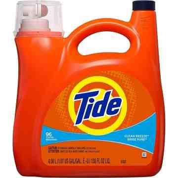 Tide - Liquid Laundry Detergent  -Clean Breeze  - 96 Lds - 4/4.08 L - 1