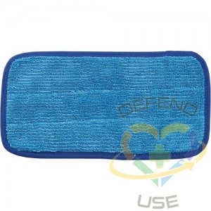 """Wall Cleaning Microfibre Mop Head, 10"""" - 1"""