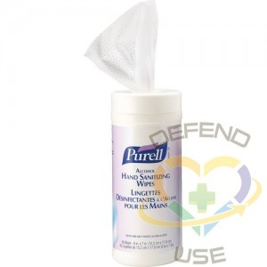 Purell Alcohol Hand Sanitizing Wipes, 80 ct - 1