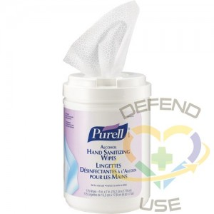 Alcohol Hand Sanitizing Wipes, Purell, 175ct - 1