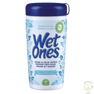 Wet Ones Sanitizing Wipes Package Type: Canister 40 ct - 1