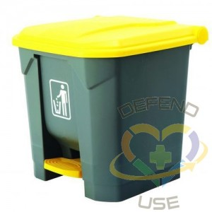 Container - Step On Can Plastic 8G - Grey - 1