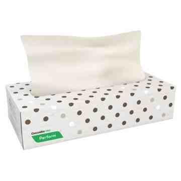 "CASCADES  Pro Perform™ Facial Tissue, 2 Ply, 8.1"" L x 7.3"" W, 100 Sheets/Box Boxes/Case: 30 - 1"
