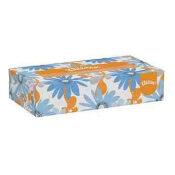 "Kleenex® Facial Tissue, 2 Ply, 8"" L x 8-1/2"" W, 125 Sheets/Box - 1"