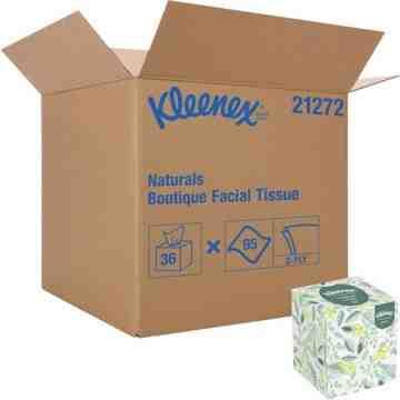 """Kleenex® Naturals Boutique* Facial Tissue, 2 Ply, 7.8"""" L x 8.3"""" W, 95 Sheets/Box, 36/Cs - 1"""