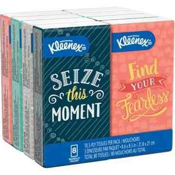 Kleenex® Facial Tissue Pocket Pack 8 Boxes - 1
