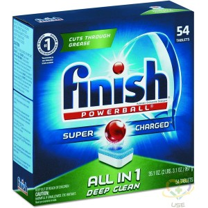 FINISH Powerball Dishwasher Tabs, Fresh Scent (Pack of 60), Case of 4/60ct[CB115820] - 1