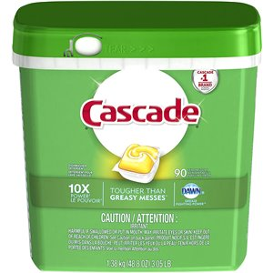 Cascade - 2 In 1 Action Pacs Lemon, Case of 3/90ct[07041]