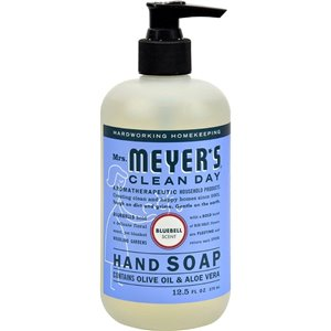 Mrs.Meyers Clean Day Pump, Hand Soap, Bluebell, Case of 6/370ml
