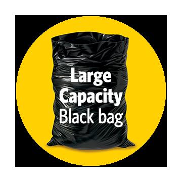Glad Easy-Tie Black Regular 74L, 100 Pack, Case of 1x100ct