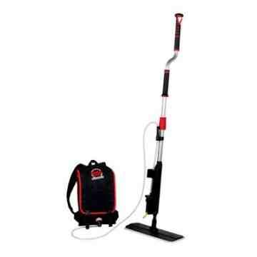 SB Professional 2-In-1 Flat Mop/Backpack Finish Applicator Kit Straight Handle,F-20184