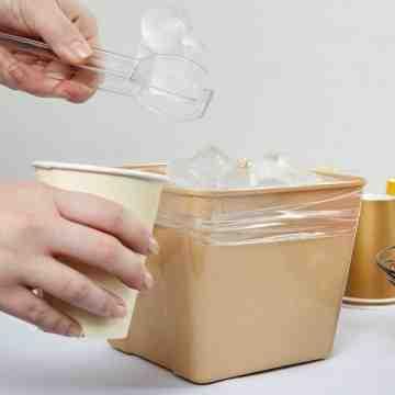 """Poly Ice Bucket Liner 8""""X4""""X12"""" 1000/cs - 1"""