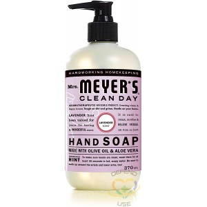 Mrs. Meyer's Clean Day Hand Soap, 370ml, Lavender, Case of 6/370ml - 1